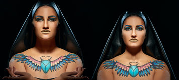 Portrait of beautiful egyptian women and man Royalty Free Stock Photos