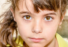 Cute 5 Year Old Girl Portrait Closeup Stock Image Image