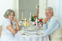 Portrait of beautiful elderly couple Stock Image