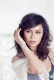 Portrait of the beautiful elegant girl Royalty Free Stock Photos