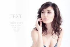 Portrait of the beautiful elegant girl Stock Image