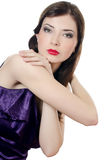 Portrait of the beautiful elegant girl with an evening make-up Stock Image