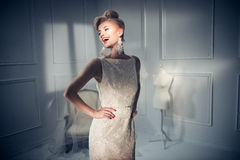 Portrait of a beautiful and elegant lady Royalty Free Stock Photos