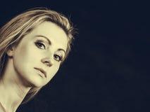 Portrait of beautiful elegant woman in sepia Royalty Free Stock Photo
