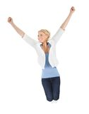 Portrait of beautiful excited young woman Stock Image
