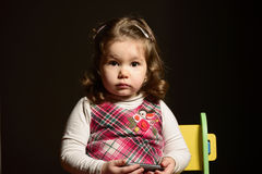 Portrait of a beautiful expresive little girl Stock Photo