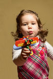 Portrait of a beautiful expresive little girl Royalty Free Stock Photo