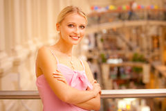 Portrait of beautiful fair-haired girl Royalty Free Stock Photography
