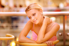 Portrait of beautiful fair-haired girl Stock Image