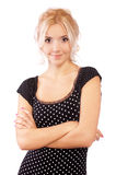 Portrait of beautiful fair-haired girl Stock Photo