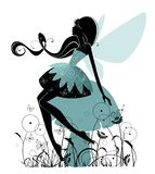 Portrait of a beautiful  fairy Stock Images