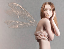 Portrait of beautiful fairy woman Royalty Free Stock Images