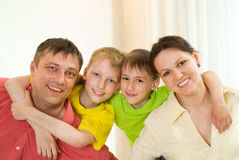 Portrait of a beautiful family Stock Photography