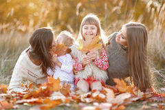 Portrait of a beautiful family Royalty Free Stock Image