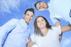 Portrait of a beautiful family brother and sister Royalty Free Stock Image