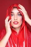 Portrait of a Beautiful Fashion Girl Stock Photo