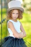 Portrait of a beautiful fashion girl Stock Image