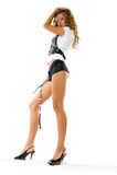 Portrait of beautiful fashion model Stock Image