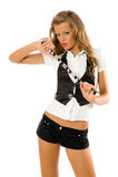 Portrait of beautiful fashion model Stock Photography