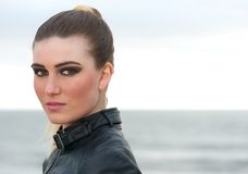 Portrait of a beautiful fashion model outdoors Royalty Free Stock Photography