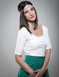 Portrait of beautiful fashion model Royalty Free Stock Photography