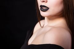 Portrait of beautiful fashion model, woman with Stock Photos