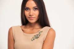 Portrait of a beautiful fashion woman Stock Image