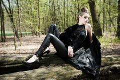 Portrait of beautiful fashion young woman and man Royalty Free Stock Images
