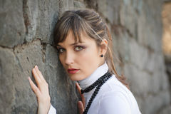 Portrait of a beautiful and fashionable  city girl Royalty Free Stock Photos