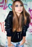 Portrait of beautiful fashionable woman Stock Photo