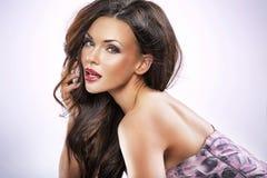 Portrait of a beautiful female stock photos