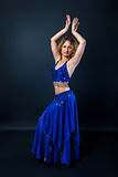 Portrait of a beautiful female bellydancer Stock Photography