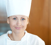 Portrait of a beautiful female chef Stock Photo