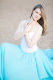 Portrait of a beautiful female dancer Royalty Free Stock Photo