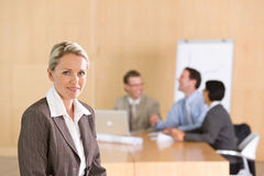 Portrait of beautiful female executive. Looking at the camera Stock Photography