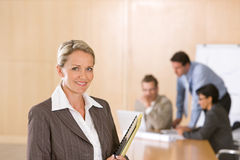 Portrait of beautiful female executive Royalty Free Stock Image