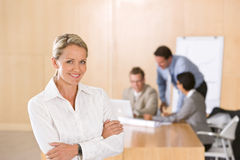 Portrait of beautiful female executive. Looking at camera Stock Photography