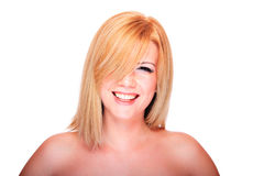 Portrait of a beautiful female model Stock Photos
