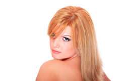 Portrait of a beautiful female model Royalty Free Stock Image