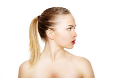 Portrait of a beautiful female model Royalty Free Stock Photo