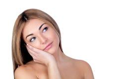 Portrait of beautiful female model Stock Photography