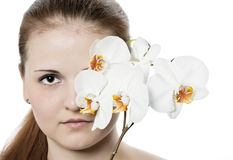 Portrait of beautiful female model Stock Images
