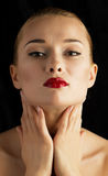 Portrait of a beautiful female model Royalty Free Stock Photos