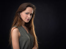 Portrait of beautiful female model Royalty Free Stock Images