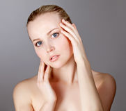 Portrait of a beautiful female model Stock Photography