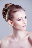 Portrait of a beautiful female model, looks right Royalty Free Stock Photo