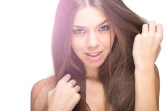 Portrait of a beautiful female model Royalty Free Stock Images