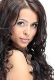 Portrait of beautiful female model on white background Royalty Free Stock Photos