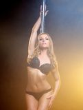 Portrait of a beautiful female pole dancer posing  Royalty Free Stock Image
