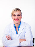 Portrait of a beautiful female scientist Stock Images
